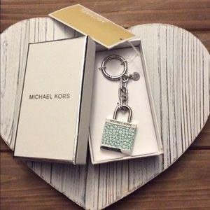 Michael Kors XL Lock Key Fob NWT